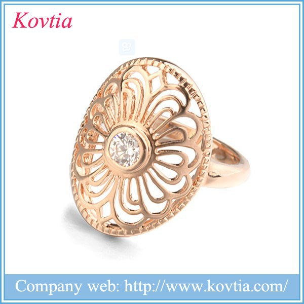 Fancy gold ring price with vintage flower hollow women wedding jewelry companies looking for distribute