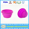 Shengjie Factory Customize silicone rubber folding bowl from China Mafucture