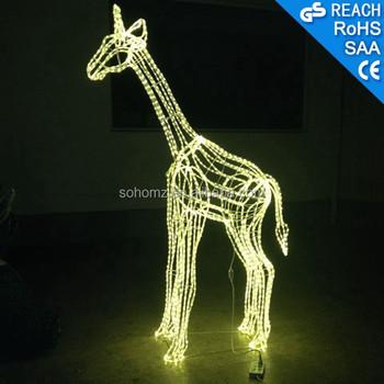 New Beautiful Giraffe Sculpture Christmas Lights Led 3d Motif ...