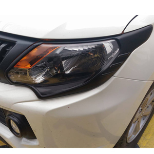 ABS Matte Black Head Light Cover For Mitsubishi 2016 L200 Triton Accessories