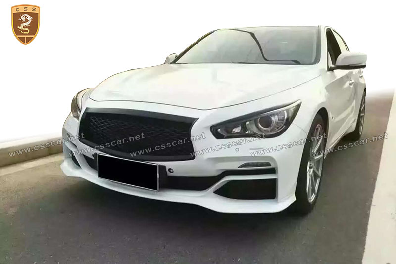 perfect fitment eau rouge bumper rear lip for infiniti q50 in pp buy rear lip for q50 q50. Black Bedroom Furniture Sets. Home Design Ideas