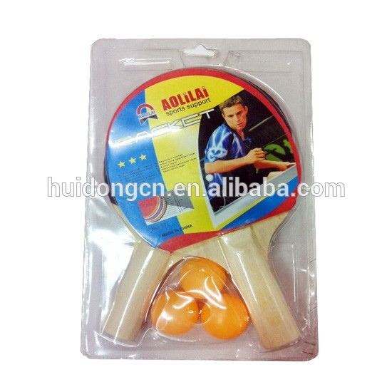 promotional table tennis rackets wholesale poplar wood ping pong paddle training and match ping pong bats with ping pong balls