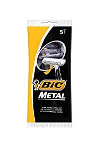 Bic Metal Men's Disposable Shaving Razors, 5-Count x 1 Pack