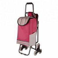 Six Wheels Luggage Folding Trolley Grocery Shopping Trolley Cart with Custom LOGO