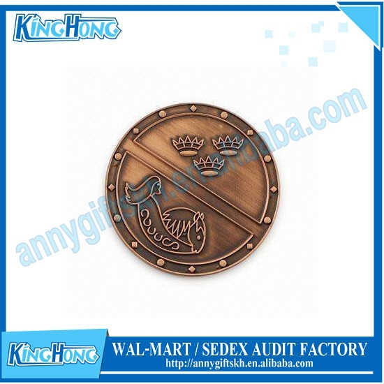 Souvenir Use and Folk Art Style Silver challenge Coin