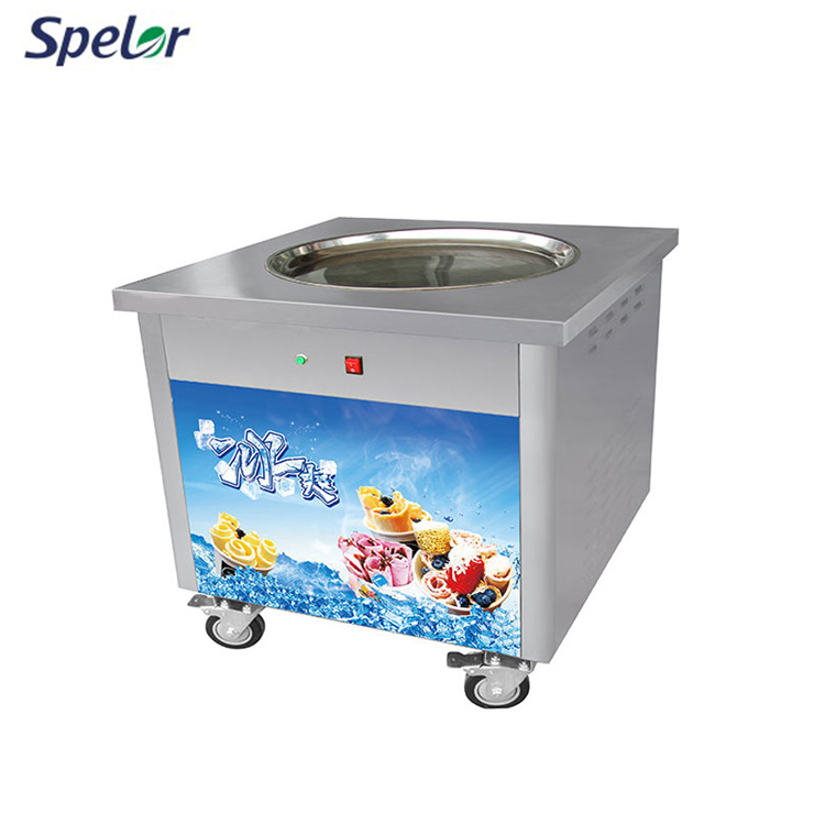 Durable Using Low Price Flat Pan Fried Ice Cream Machine Rolls