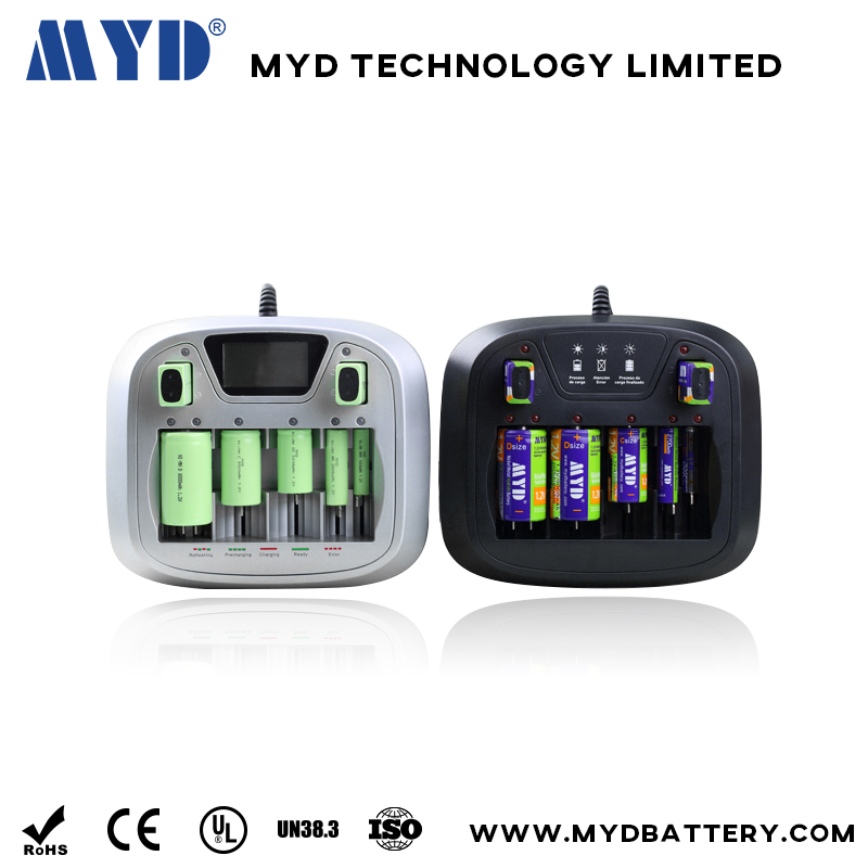 Universal battery charger AA/AAA/C/D/9V Battery Charger with High quanlity and LCD display