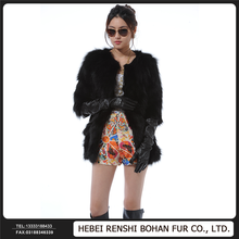 Alibaba China Wholesale Imported Fight Skin Fox Fur Coat Long Section