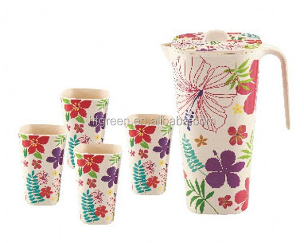 replace melamine eco bamboo fiber cup set