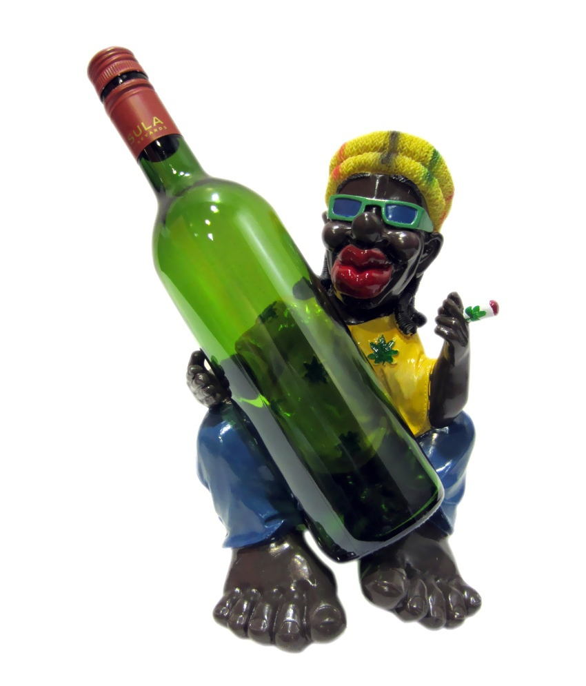 Custom Cartoon Figure Wine Rack, Novel Wine Rack, Resin Wine Rack