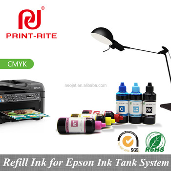 4 Color Compatible Refill Ink For Indoor For Epson L1300 High Speed Cmyk  Ink Tank System T774 T672 Color Printing Machine - Buy Bottle Refill
