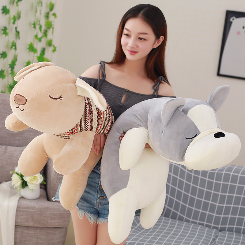 Wholesale Prone dog Body Pillow Sofa Chair Bed Room Decoration Animal Stuffed Baby Soft Plush Toy