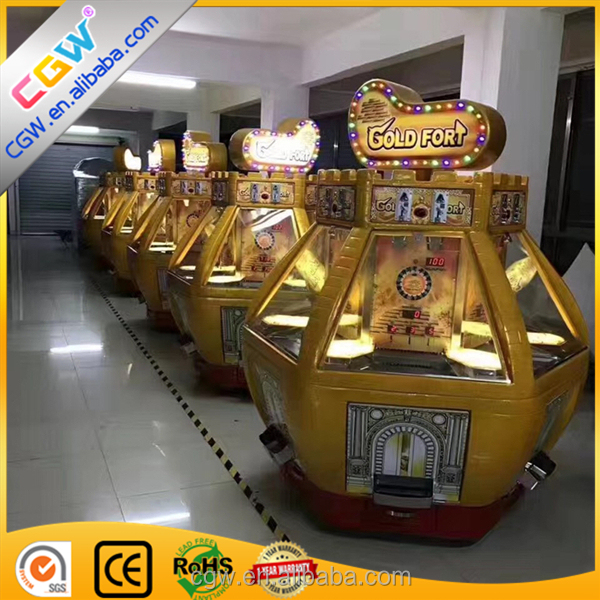 Cgw Gold Fort Coin Pusher Redemption Game Machine Arcade Ticket Lottery  Game Machine - Buy Coin And Ticket Redemption Games,Gold Fort,Arcade Ticket