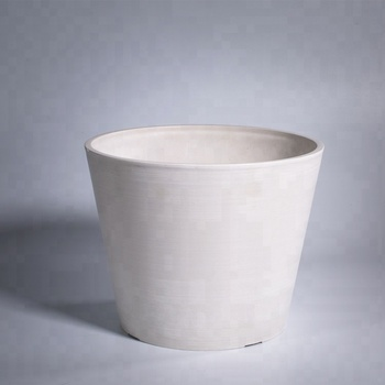 AYT10-004 Fashionable Design square white ceramic flower pot