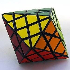 Diansheng 4x4x4 Hexagonal Dipyramid Black 4x4 Shape Mod Twisty Puzzle