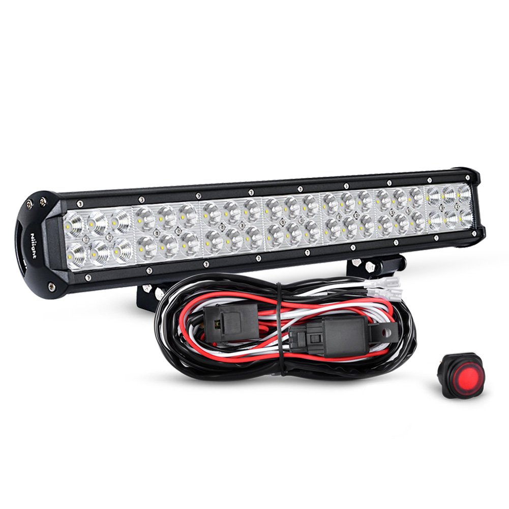 "Get Quotations · Nilight ZH006 20"" 126W Spot Flood Combo LED Light Bar  (Work Light/Off"