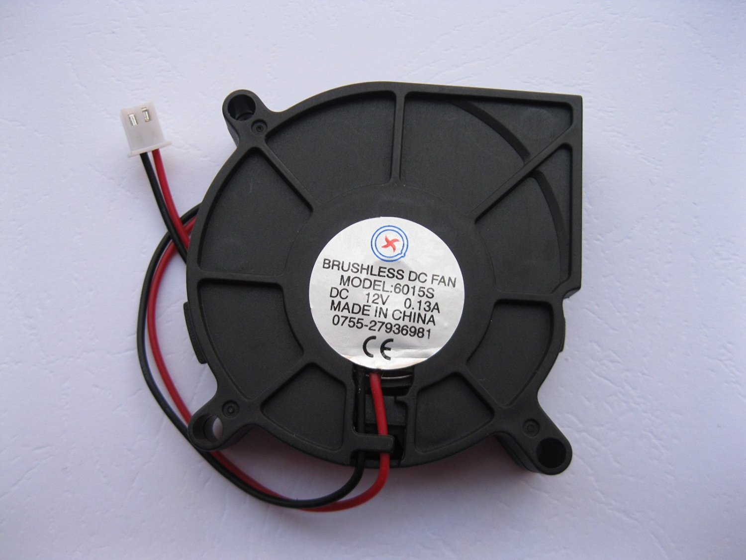 1 Pcs DC Blower Fan 12V 4020 2 Pin Black 40x20mm Brushless DC Cooling Blower Fan