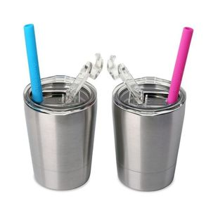 2 Piece Toddler Double Wall Stainless Steel Cups With Lids and Straws 8.5oz sippy cup tumbler