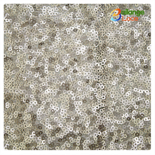 Bailange gold ladies fashion wholesale champagne sequin fabric