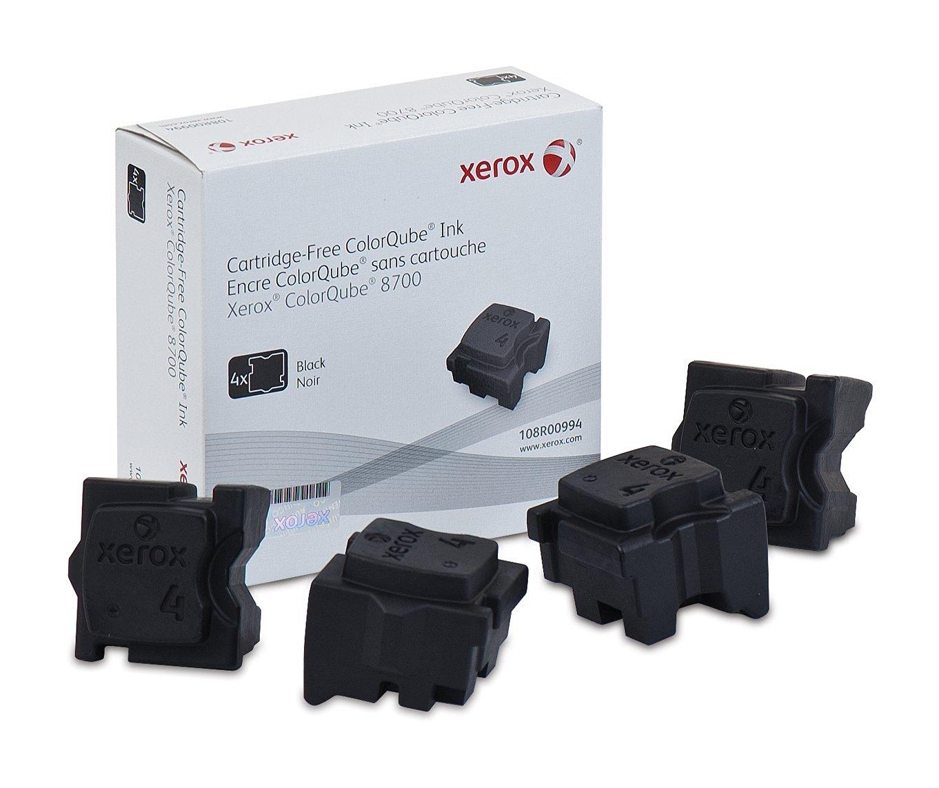 Genuine Xerox Black Solid Ink Sticks for the Xerox ColorQube 8700 (4 pcs/Box), 108R00994