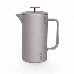 Pass FDA test Porcelain coffee pot french press with filter for coffee brewing