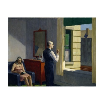 Free Shipping Edward Hopper Giclee Canvas Print Paintings Poster Reproduction Fine Art Wall Decor(Hotel By A Railroad)