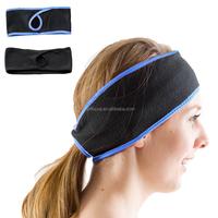 Girls Running winter sport polar fleece ear warmer Workout Sports Ponytail Headband