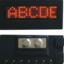 ali express indoor electronic led name badge display/name tag/ mini display sign