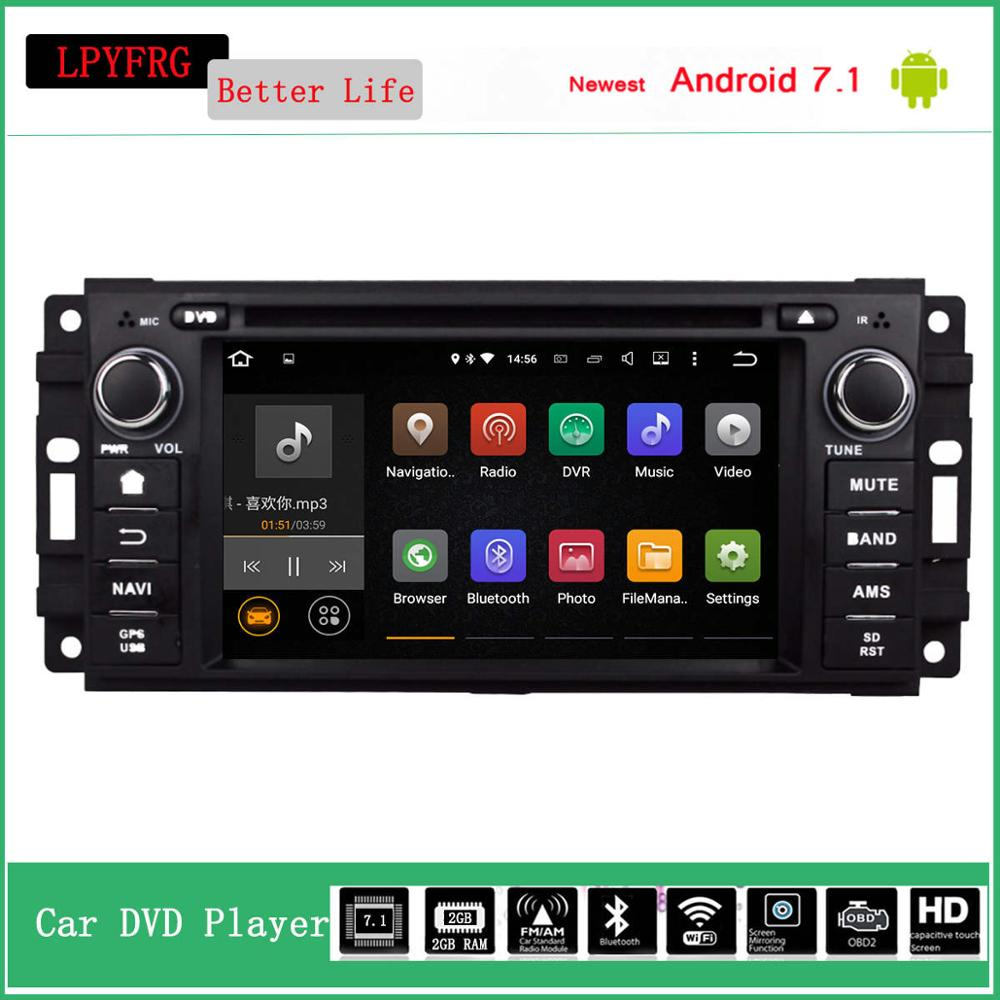 6.2'' touch screen car gps radio stereo for jeep compass wrangler jk 4g lte android 7.1 easy installing car stereo jeep wrangler