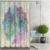 3D Fabric Polyester Fiber Fresh Flower Datura Printing Hotel Room Non Fading Waterproof Mildew Custom Shower Curtain