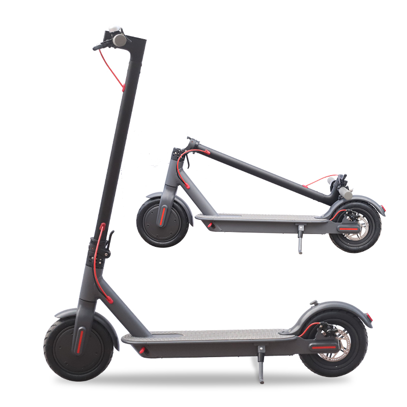 Europe area Dropshipment 8.5Inch Black Color Adult Foldable Electric Scooter with APP