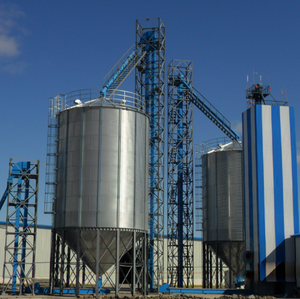 low cost 700ton cone bottom coal silo for maize corn grain storage