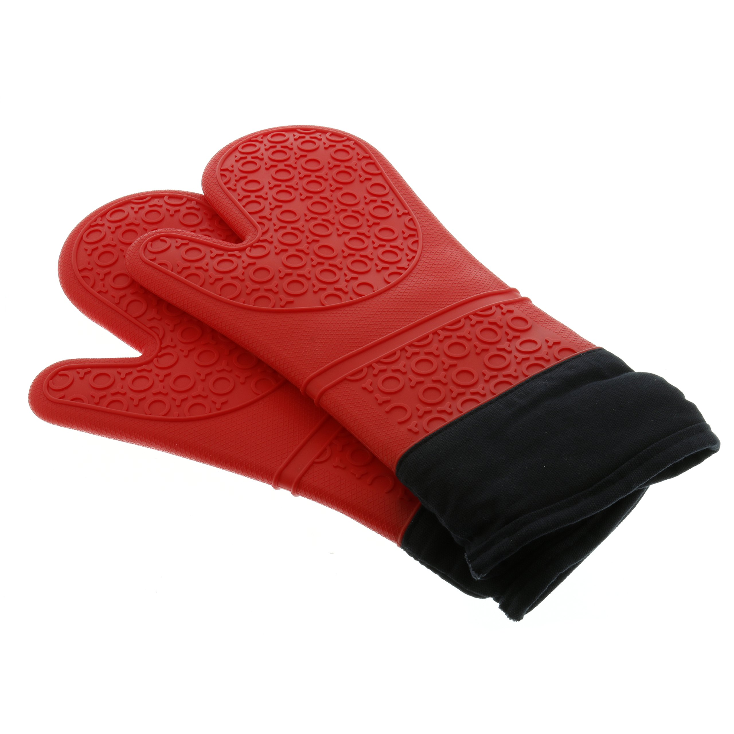 Good Cooking Silicone Oven Mitts - 1 Pair - Extra Long Oven Mitts with Quilted Liner for Extra Protection