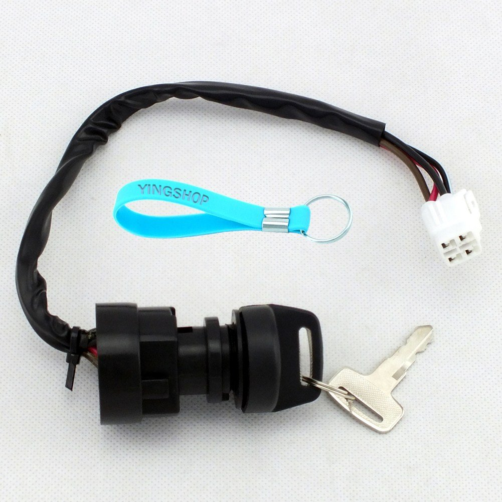 Yingshop Ignition Key Switch for Yamaha YFZ450 YFM400 YFM 450 YFZ YFM 400 450 2WD 4WD ATVs 2004 2005 2006 2007 2008 2009 2010 2011 2012 2013