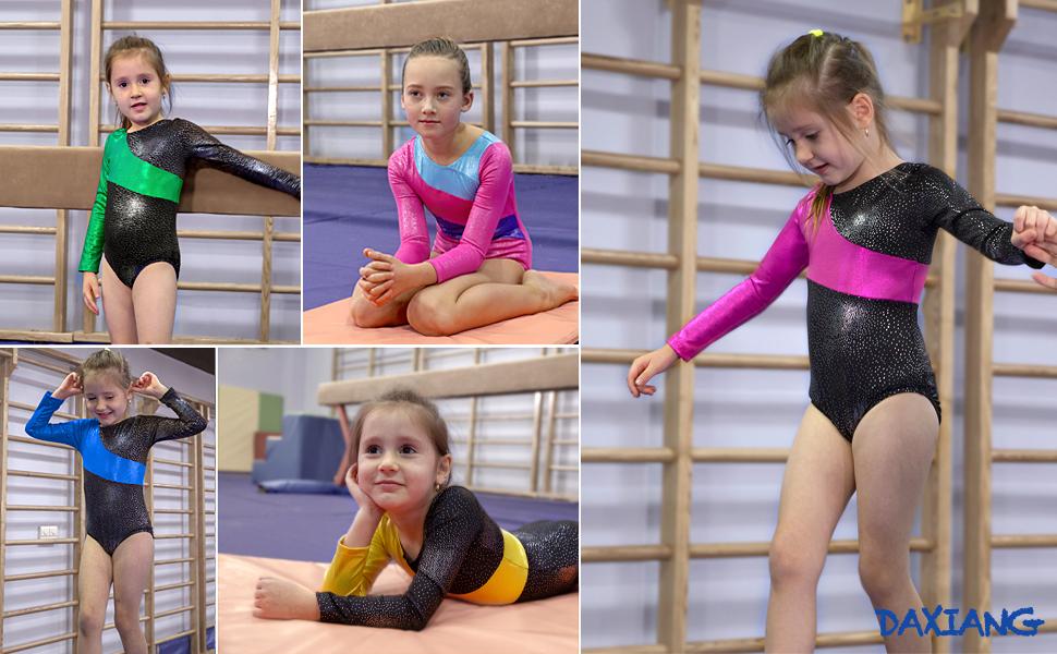DAXIANG One-Piece Gymnastics Leotard for Girls Dance Clothes Biketard for Baby Girls 3-10 Years
