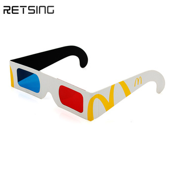 Wholesale Amazing Paper Red Cyan 3D Glasses With New Design