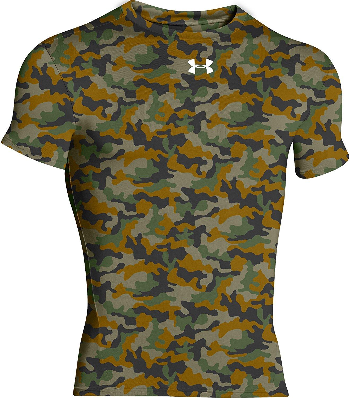 b29072c6ed6 Get Quotations · Under Armour Camo Locker Short Sleeve Compression Shirt  Green Camo (XL)
