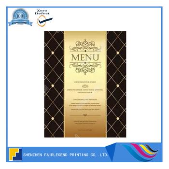professional menu booklet design and printing buy menu booklet