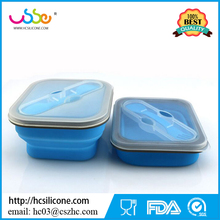 Microwave Dish Washer Safe BPA Free Leak Proof Silicone Collapsible Bento Lunch Boxes