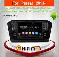 Hifimax Android 5.1.1 car gps dvd for VW Passat volkswagen passat car stereo gps wifi 3g gps dvd player for vw passat 2013 2014