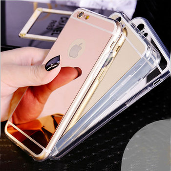 new style 249cc 3c2e9 Luxury Electroplate Mirror Soft Tpu Silicone Case Back Cover For Iphone 6s  6s Plus Rose Gold Mirror Phone Case - Buy Back Cover For Iphone 6s 6s ...