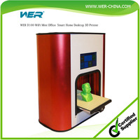 WER D100 4.5 Colorful Capacitive Touch Screen Pre-assembled WiFi Mini Office Home Desktop 3D Printer