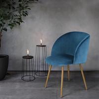 High quality morden furniture wooden leg living room office lounge velvet dining chair