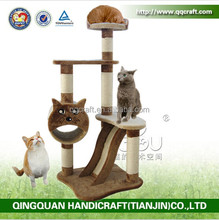qqpet factory wholesale new popular artic cat tree & eco friendly cat scratching fabric sisal