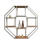 Moderna Geometrica In Ferro Battuto Piccolo Caffè Tavolo di Metallo Cestino di Immagazzinaggio