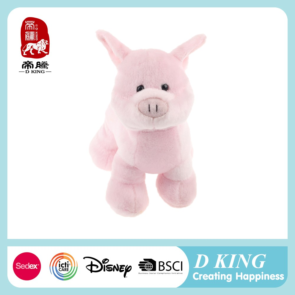 Simple nice-looking custom child china plush pig toy factory pillow