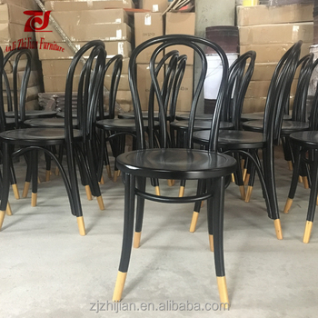 Black With Gold Color Thonet Bentwood Chair ZJC24f & Black With Gold Color Thonet Bentwood Chair Zjc24f - Buy Black With ...