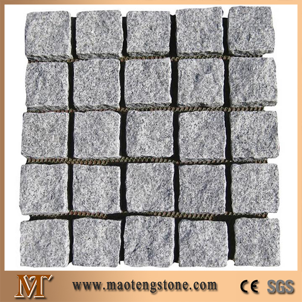 G603 Own Quarry 10x10x3cm Natural Split With Mesh Granite Cube Stone