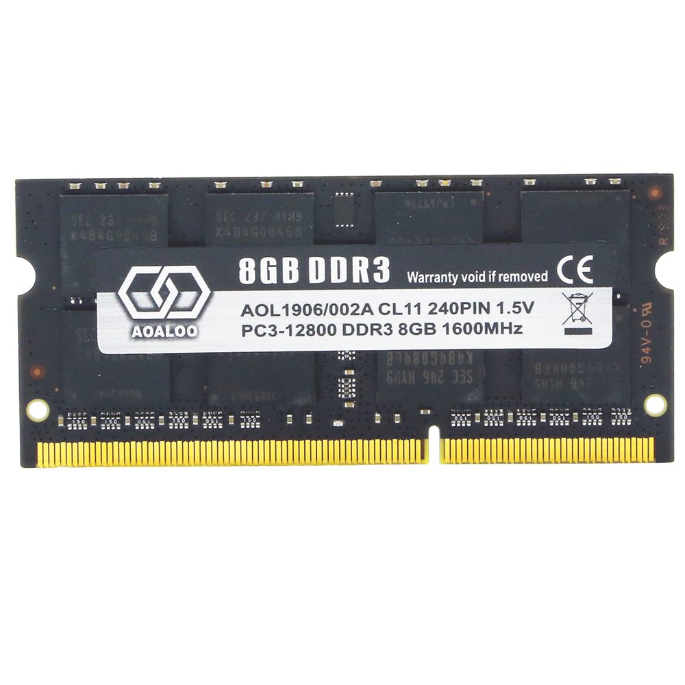 AOALOO SODIMM DDR3 8 ギガバイト PC3-12800 1600 800mhz の