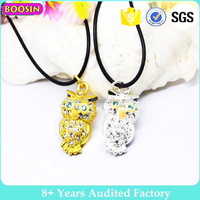 New design alloy charm owl necklace 20 grams gold necklace designs